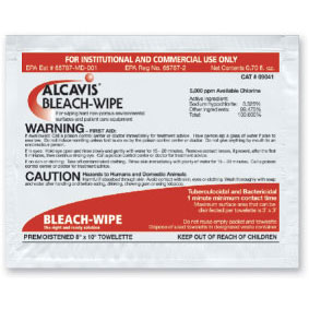 Alcavis Bleach Wipes